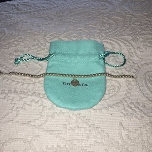 Mini Heart Return to Tiffany beaded bracelet 7 in.